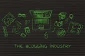 Concept of the blogging industry
