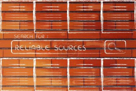 Photo pour Surcharge d'information, des sources fiables et la recherche de documents en ligne - image libre de droit