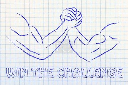 Trial of strength, arm wrestling design