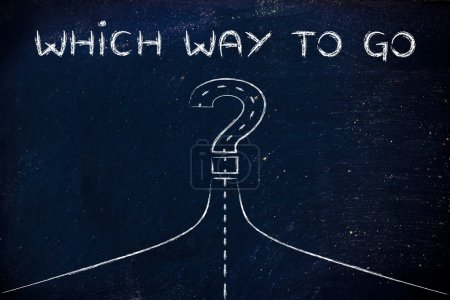 Which way to success illustration