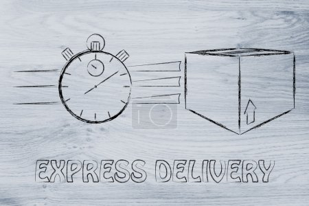 Fast delivery time illustration
