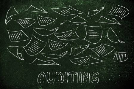 Corporate auditing procedures concept