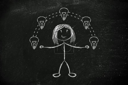 Funny girl juggling ideas