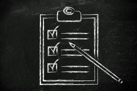 Photo pour Terminé À faire liste avec les tâches cochées - image libre de droit