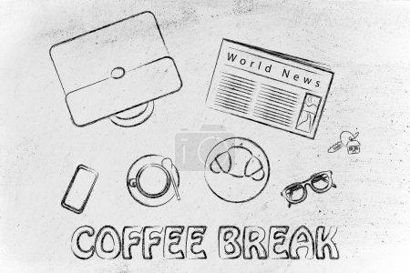 Business lunch or coffee break illustration