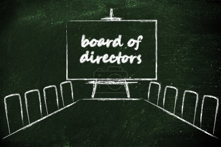 Management board in meeting room