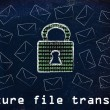 Постер, плакат: Secure file transfer