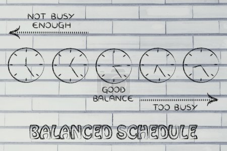 Balanced schedule at work