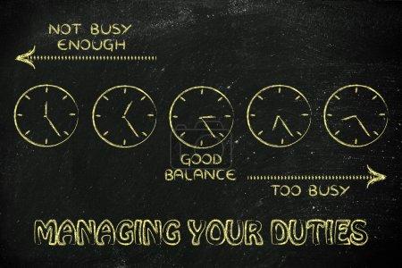 Managing your duties illustration