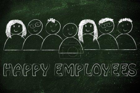 Photo pour Main-d'œuvre et le capital humain : employés heureux - image libre de droit