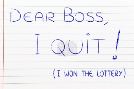 Handwritten message to the boss