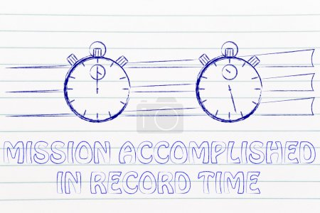 concept of achieving a mission in record time