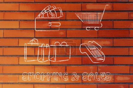 Shopping & sales illustration