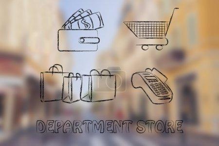 Department store illustration