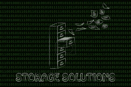 concept of Storage solutions