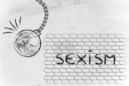 wrecking ball against sexism text