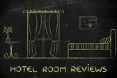 Hotel Recenze, návrh interiéru místnosti
