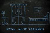 Hotel zpětná vazba, návrh interiéru místnosti