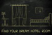 Najděte si svůj sen hotel, návrh interiéru místnosti