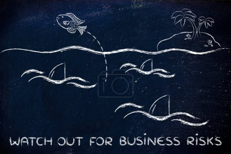 watch out for business risks illustration