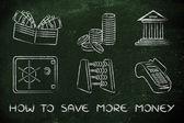 Jak ušetřit více peněz koncept