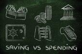 Koncepce uložení vs výdaje