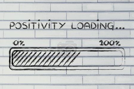 Photo pour Un meilleur mot : barre de progression métaphoriquement charger plus de positivité - image libre de droit