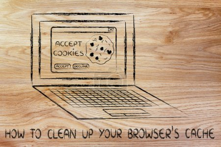 Illustration of how to clean up your browser's cache
