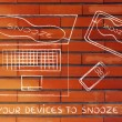 Постер, плакат: Concept of set your devices to snooze mode