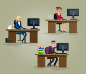 Vector detailed character corporate business team