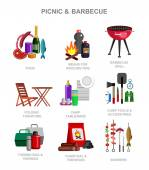 Camping and barbecue object