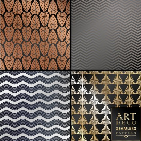 Art Deco seamless vintage wallpaper pattern