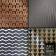 Art Deco vintage wallpaper pattern can be used for...