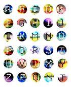 Geometrické písmo. Kreativní abeceda. Typografické sada