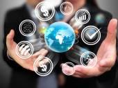Obchodní lidé hospodářství sociální média
