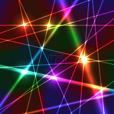 Illustration for Neon Shiny Bright Rainbow Colors Laser Background - Royalty Free Image
