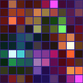 Colorful square tile mosaic with violet borders - seamless background
