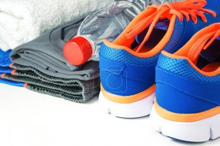 Fitness accessories with sport shoes