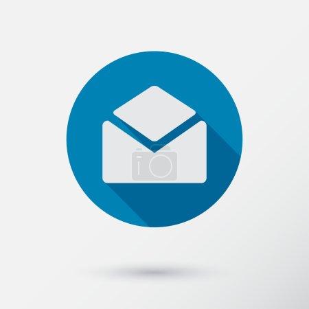Illustration pour Icône de lettre en style plat . - image libre de droit