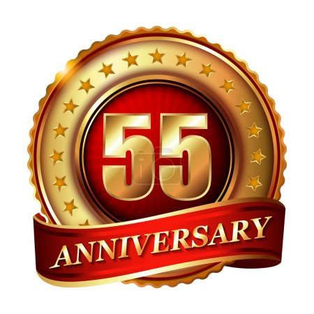 55 Anniversary golden label