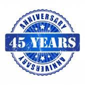 45 Years anniversary stamp