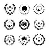 Cotton icons and logo set