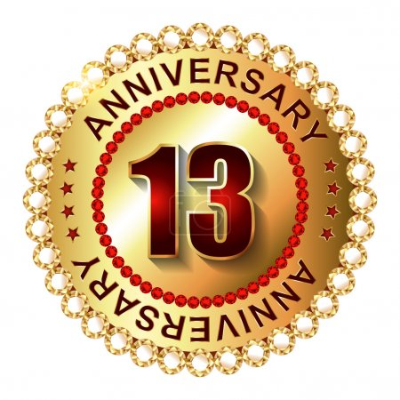 13 Years anniversary golden label.