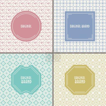 Ilustración de Abstractos fondos geométricos para logo, etiquetas y Gafetes. - Imagen libre de derechos