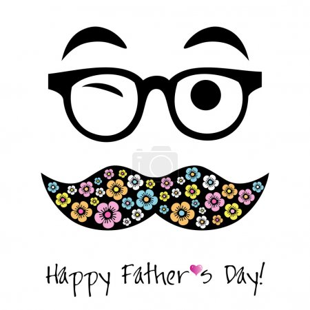 Illustration for Happy Father's day background for card - Royalty Free Image