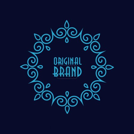 Photo for Abstract geometric frame. Hipster style for logo, labels and badges. Monogram and emblem elements. - Royalty Free Image
