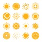 Sun icons set for computing web and app....