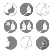 woman fashion icon or logo