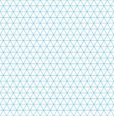 Isometric grid paper seamless pattern