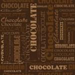 Постер, плакат: Seamless chocolate pattern with word of chocolate